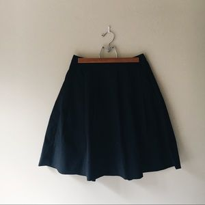 Uniqlo • Navy Pleated Midi Skirt